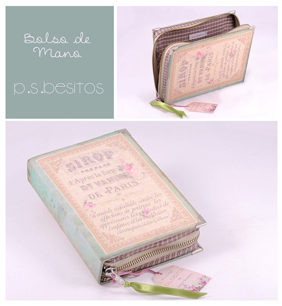 Book Clutch French Paris Perfume by psBesitos on Etsy, €50.00