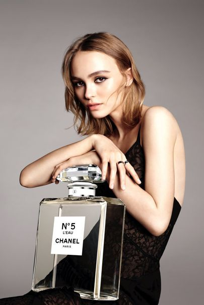 The actress is the face of the new Chanel No.5 L'Eau fragrance, following in the footsteps of mother Vanessa Paradis