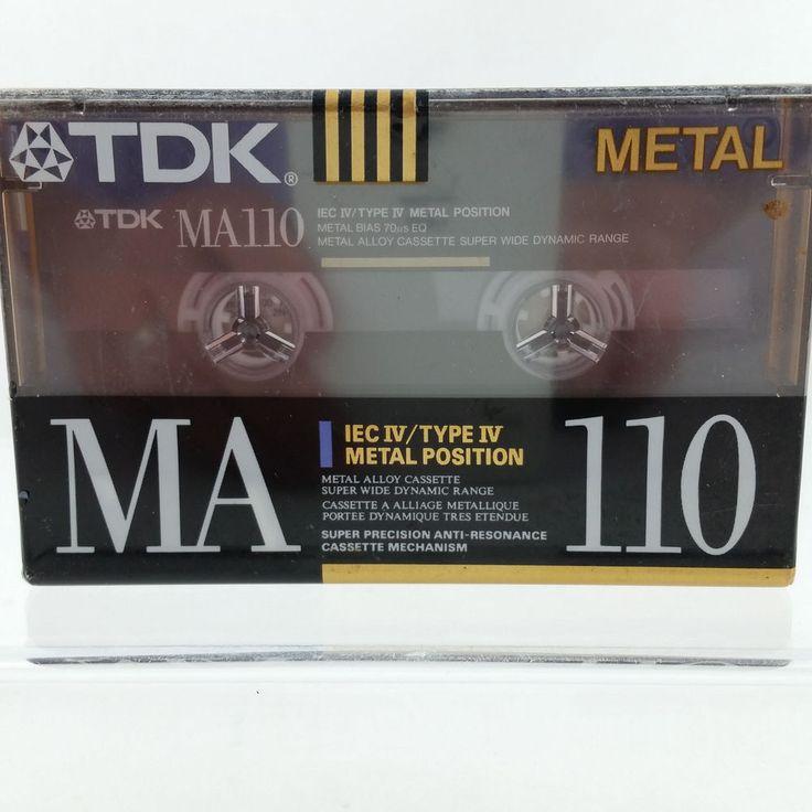 TDK MA110 Metal Type IV Cassette Tape Metal Position Sealed Japan #TDK