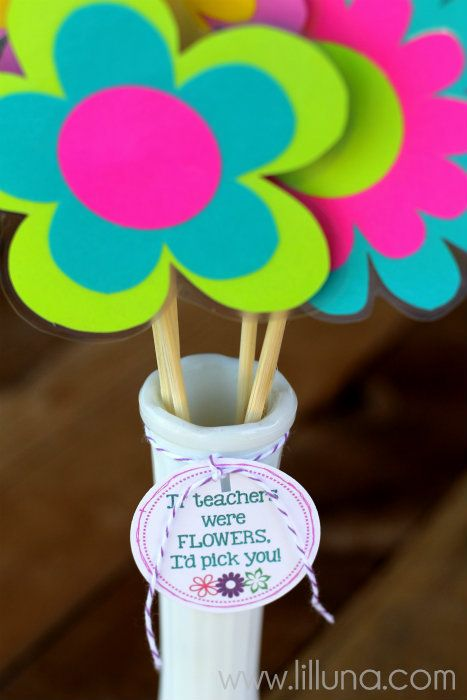 36 best teacher appreciation crafts images on pinterest presents back to school teacher gift if teachers were flowers id pick you teacher gift diyteacher solutioingenieria Image collections