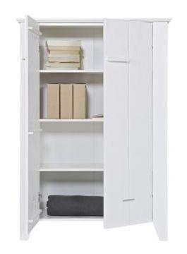 LEF collections Kast 'Joep' wit grenen 142x100x38cm - wonenmetlef.nl