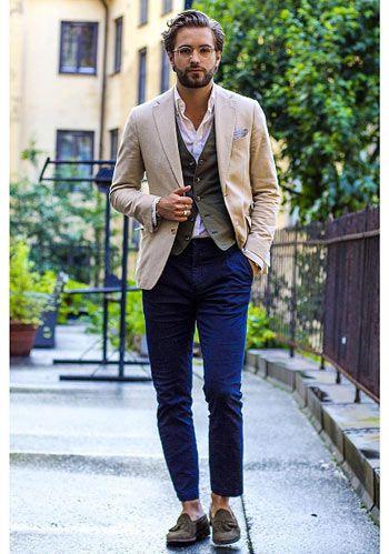 【休日】ベルトじゃなく「靴とジレの色を合わせた」着こなし(メンズ) | Italy Web
