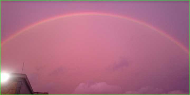 Pedido de casamento: Da Copa do Mundo pra um céu rosa e arco-íris