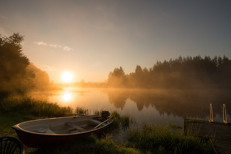Little place in Finland called Ahvio. The river is called Kymijoki. #photography