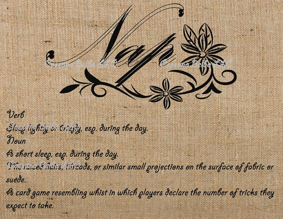 Digital Download burlap collage sheet Nap Definition by RalphPia, $1.00