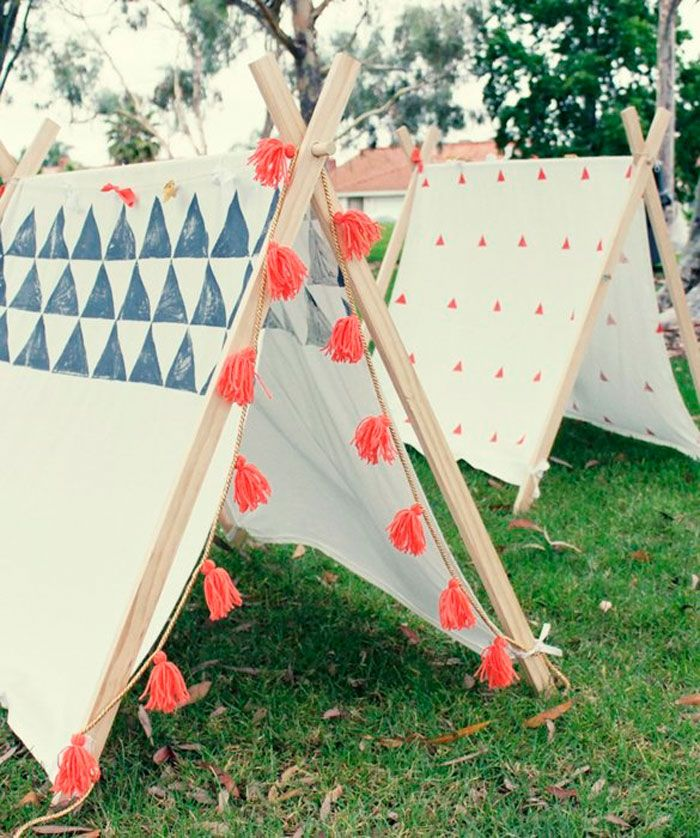 Jugar como indios #inspiración #DIY #niños Could be cool for evening garden partie toward the end of a wedding? More