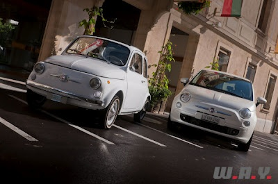 Old vs. new Fiat 500 :)#Repin By:Pinterest++ for iPad#