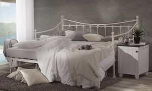 Add a vintage French feel to any home with the Valentina Steel Day Bed