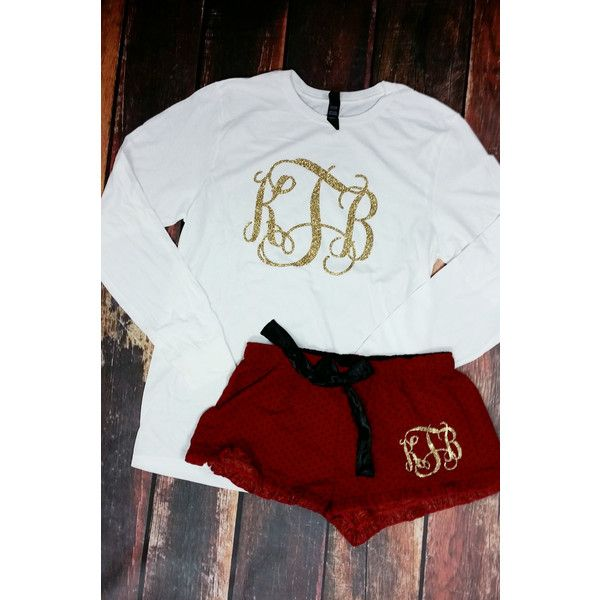 Monogrammed Christmas Pajamas Adult Monogrammed Pajama Pants Christmas... ($27) ❤ liked on Polyvore featuring intimates, sleepwear, pajamas, grey, women's clothing, monogrammed pajamas, monogram christmas pjs, christmas pajamas, christmas pjs and pj pants