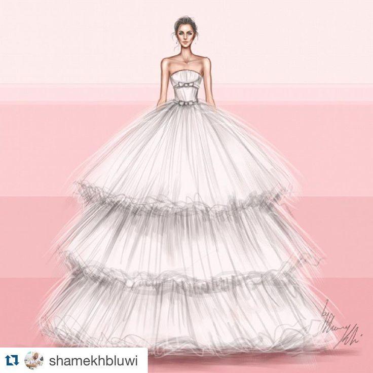 "Gidget Bowden on Instagram: ""#Repost @shamekhbluwi with @repostapp. ・・・ Oscar de La Renta Bridal 2016♥"""
