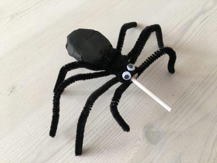 簡単工作 蜘蛛のキャンディ スパイダーロリポップの作り方