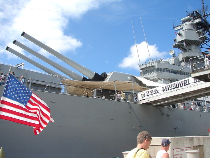 """Congratulations to Niles B. the winner of this week's """"Hawaii Moments"""" photo contest!  Location: USS Missouri Battleship on Oahu"""