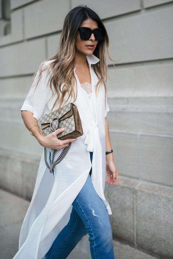 asos shirt dress, mango cropped jeans, asos pointed heeled mules, gucci dionysus bag, celine sunglasses