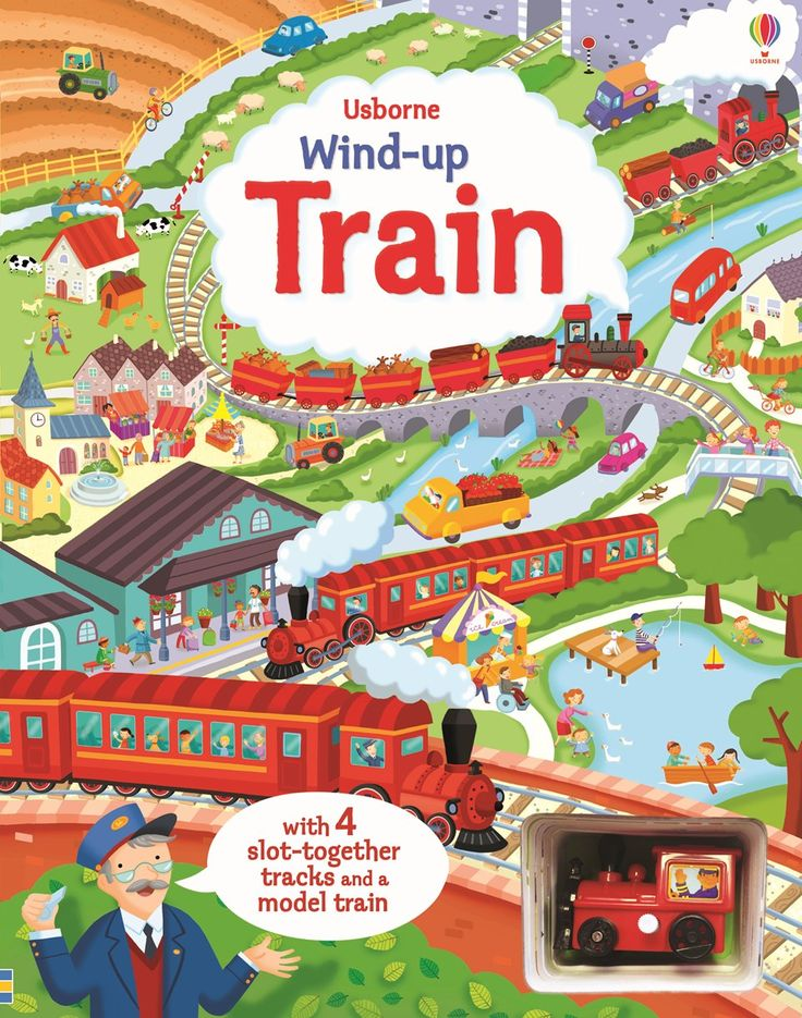 "Find out more about ""Wind-up train book with slot-together tracks"", write a review or buy online."