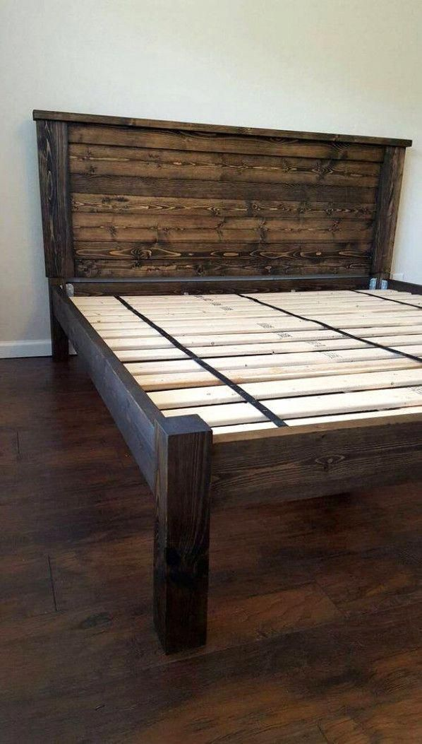 Bed Frame No Box Spring Needed Bed Frame King With Headboard