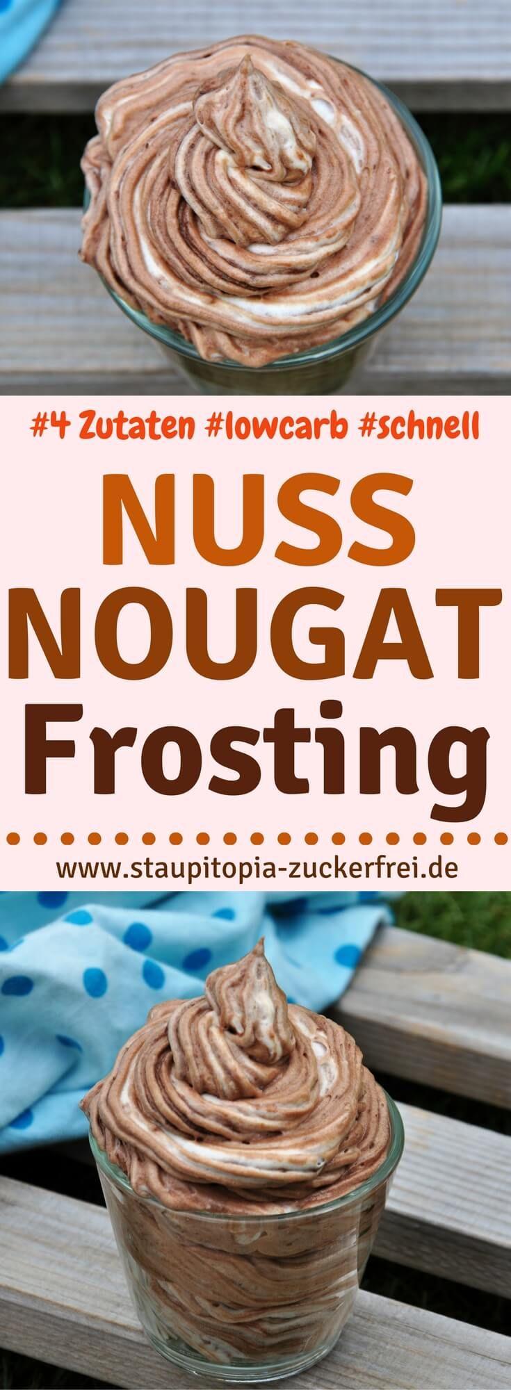 Nutella Fans aufgepasst: Wer Nutella mag, wird dieses Low Carb Nuss-Nougat Frosting Rezept lieben. Kombiniere das Nuss-Nougat Frosting mit einem Kuchenboden oder Muffins und mache somit leckere Torten oder Cupcakes ganz einfach selber.