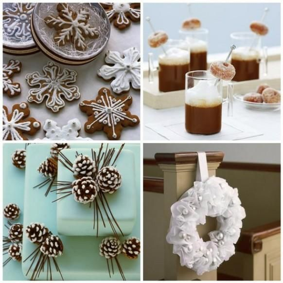 Pine Cone Wedding Cakes For Winter Or Christmas Weddings ♥ Snowflakes Cookies For Winter Weddings Or Christmas. - Weddbook