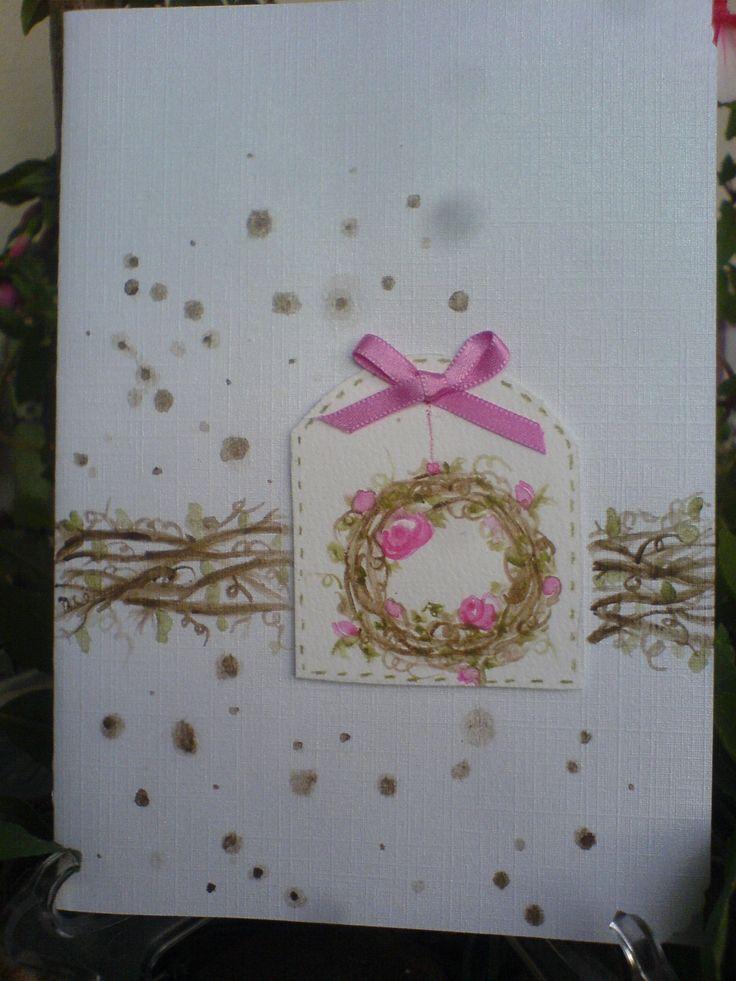 Rosen/Roses Wreath Card Aquarell