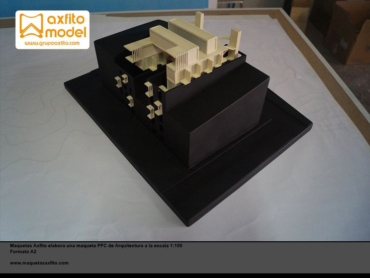 Architectural scale model pfc arquitectura maquetas en lugo grupo axfito maquetas en granada escala 1:100