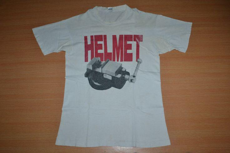 Vintage 90s HELMET  hardcore punk metal Tour Concert Promo album rare T-shirt t shirt by OldSchoolZone on Etsy