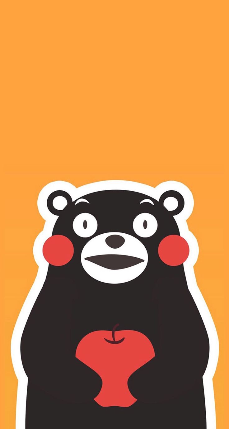 #cute #doodle #wallpaper #desktop #screensaver #iphone #background #smartphone #phone #husky #kawaii #bear #apple