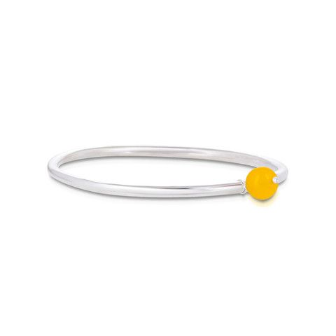 Gem Orb Bangle. Yellow Onyx