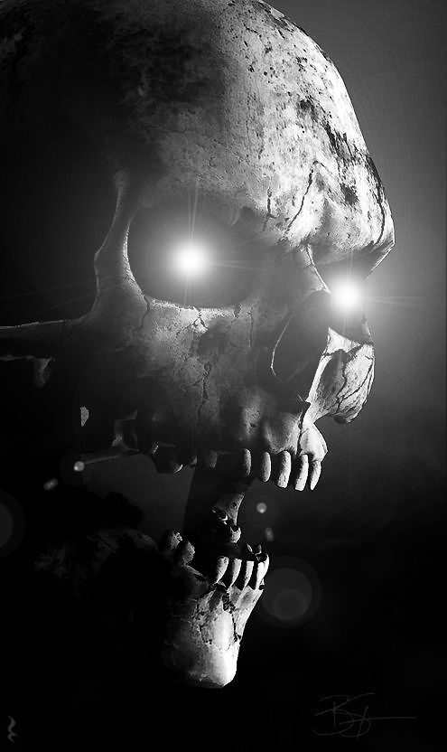 Skull.  Dark but cool at the same time.