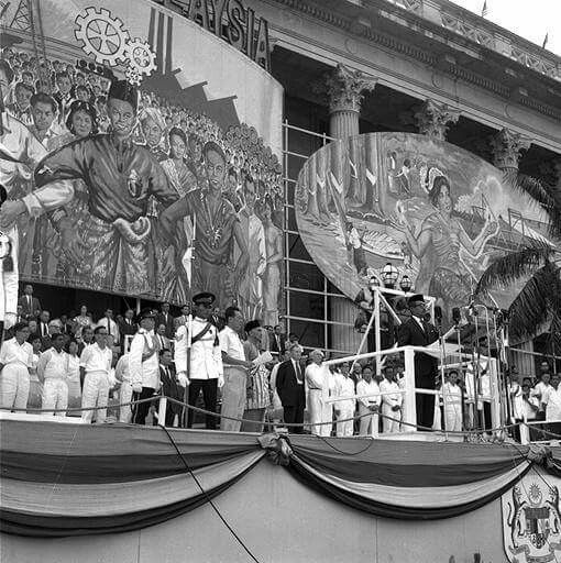 First Malaysia National Day, 1963, after Singapore merged with Malaysia