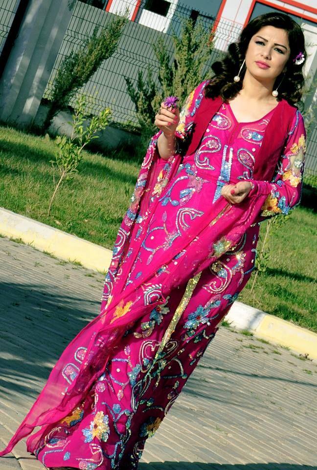 Pink kurdish dress