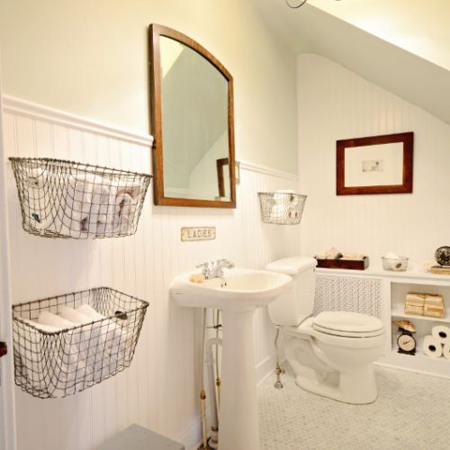 Floor To Ceiling Beadboard In Bathroom: 1000+ Ideas About Baskets On Wall On Pinterest