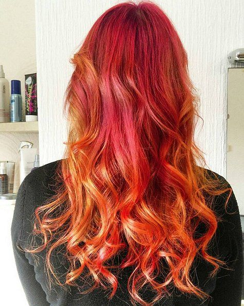 Sunset hair color is the vacation your hair has been needing.