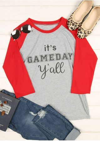 It's Gameday Y'all O-Neck Baseball T-Shirt
