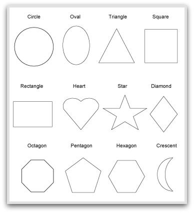 octagon worksheets for preschoolers | Geometric Shapes To Print, Cut, Color and Fold