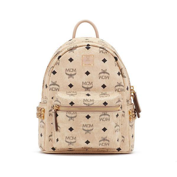 MCM Stark Backpack ($670) ❤ liked on Polyvore featuring bags, backpacks, rucksack bag, mcm backpack, mcm, mcm bags and beige bag