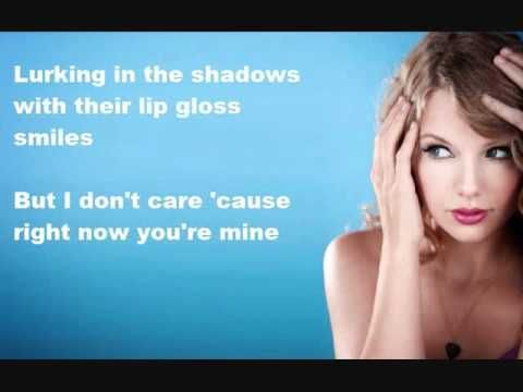Ours - Taylor Swift (Why do u think i adore u T.S coz u write songs for me...this is our story....They judge like,they know me & you,People throw rocks at things that shine...aaah it just can't get any better :)) makes me smilee :)) This love is ours babee <3