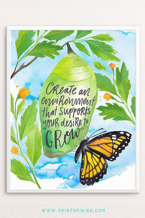 Created in collaboration with Jessica Ortner from The Tapping Solution, this inspirational print will inspire your space. ➸ Featuring a beautiful hand painted butterfly to inspire transformation ➸ Hand lettered typography in a loose, contemporary style ➸ A perfect way to bring inspiration to your dorm room, workspace, studio or office wall. Inspirational Print, DIY Dorm Decor Instant Download Art, Inspiring Print, Butterfly Cocoon Art, Inspiring Wall Art, Inspirational Quote