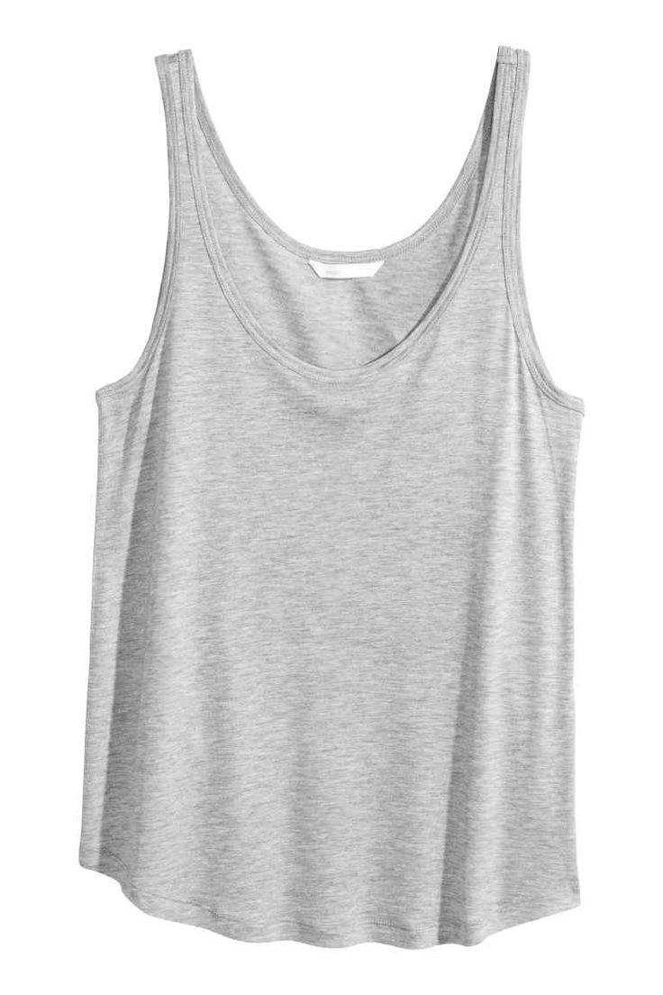 Dżersejowa koszulka - Szary melanż - ONA | H&M PL