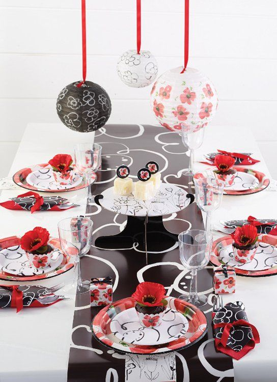 decorative paper plates and styling