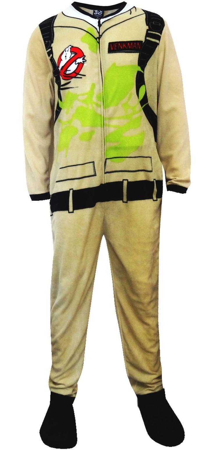 Ghost Busters Dr Venkman Uniform Footie 1 Piece Pajamas