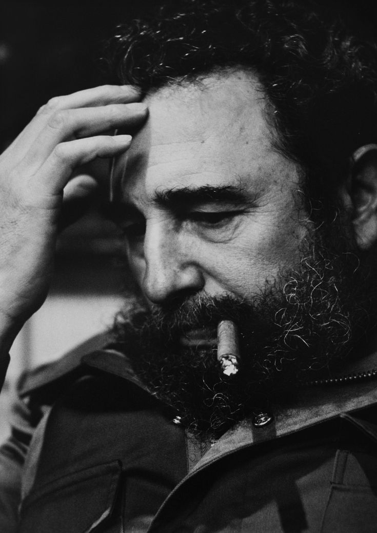 """Fidel Castro, Havana, 1977  24''x20'' fiber print, unique print but negative exists  """"President Fidel Castro is one of the most fascinating people I have photographed. I met him several times and found him to be one of the most engaging leaders out of the dozens I have photographed. Havana, Cuba on October 31, 1974."""""""