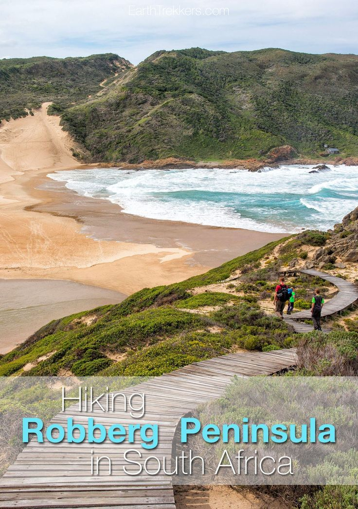 Hiking in South Africa...our favorite hike was the Robberg Peninsula on the Garden Route of South Africa. This is a gorgeous hike with whale watching opportunities, walks along the beach, and aquamarine water.