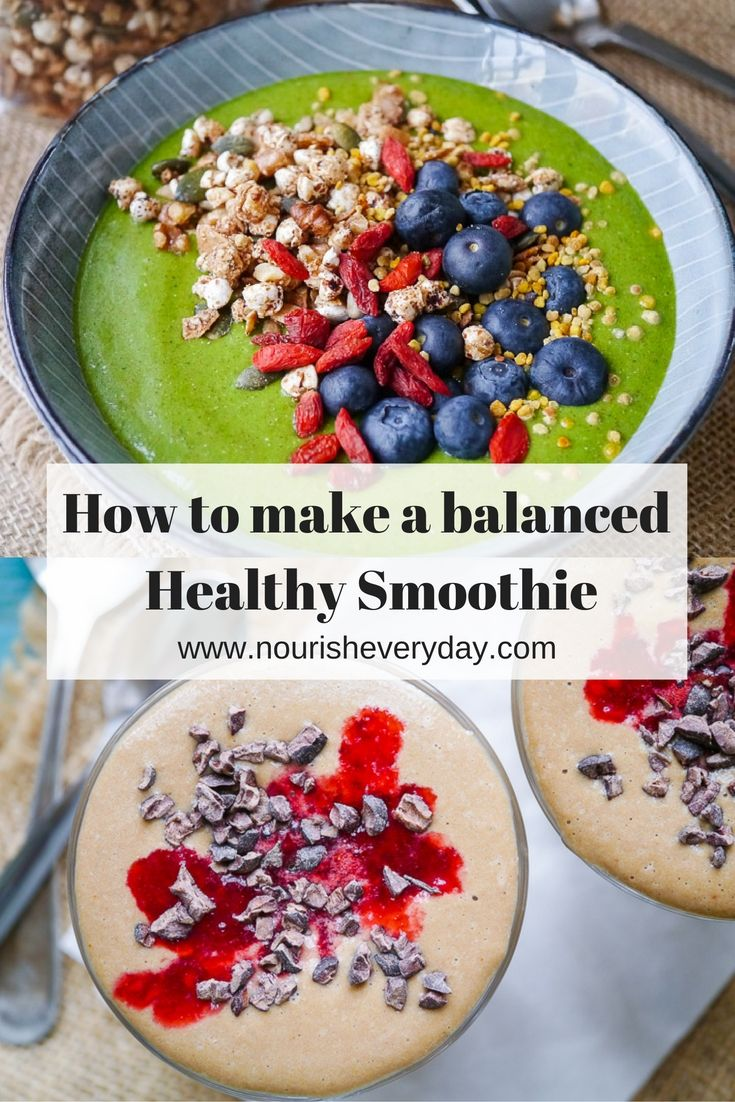 Want to know how to make a balanced healthy smoothie? Follow these simple tips and create a nourishing healthy smoothie that's also incredibly delicious! Read more on nourisheveryday.com