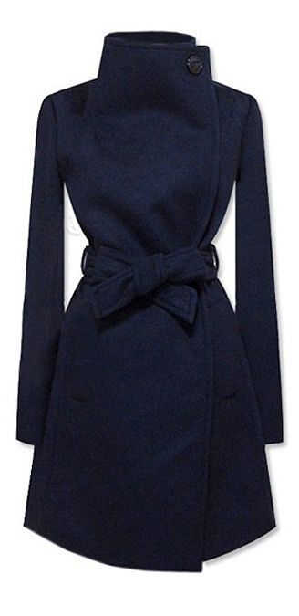 Dear stylist, expand me into blue shirts with cream blazer and get this coat. Love the button on the side of the neck.