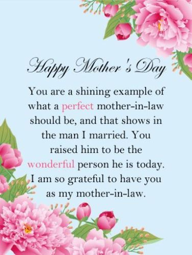 Happy mothers day mother in law life. Even though it is by