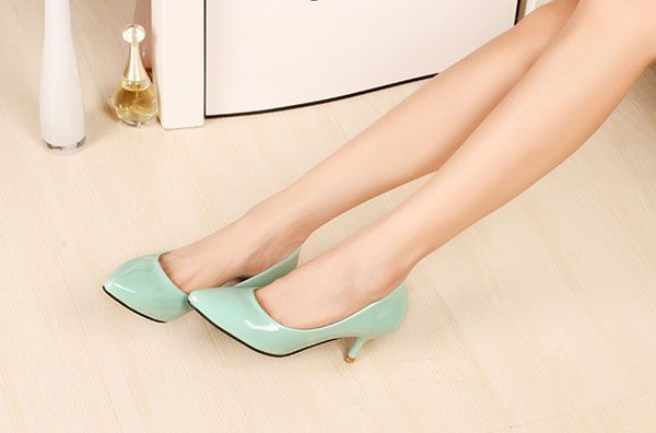 New Candy Colors Women OL Shallow Mouth Pointed Toe Thin Heel Pumps