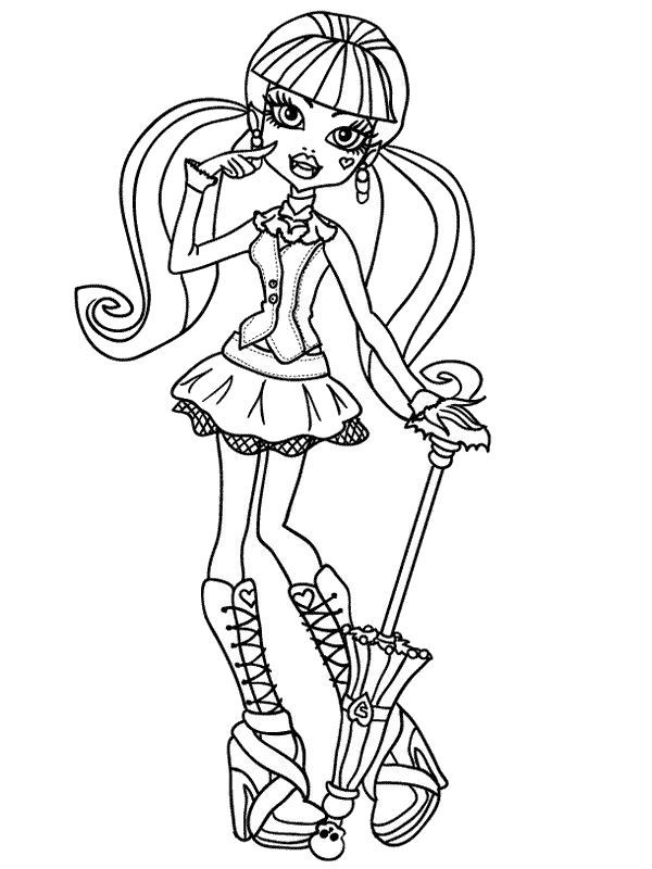 Coloring Page Monster High Draculaura Printables