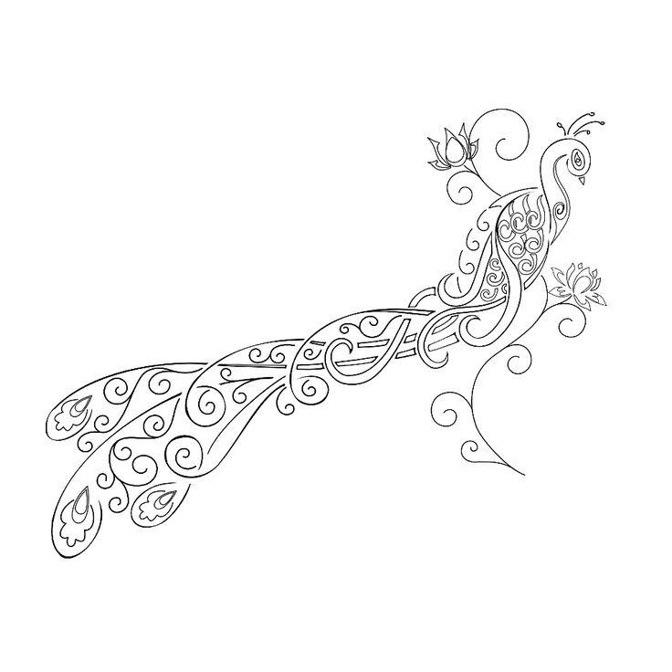 Tribal tattoos: Tatuaggio di Pavone e fiori di loto,Bellezza, rinascita tattoo - TattooTribes.com