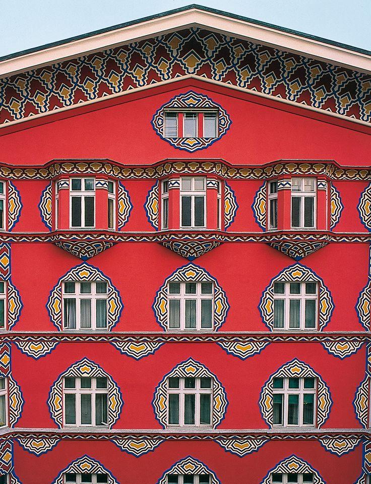 Ljubjana, Slovenia, building of the former Cooperative Bank B. Cvetkovic