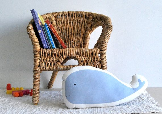 stuffed toy Blue whale Soft pillow kids pillow soft toy