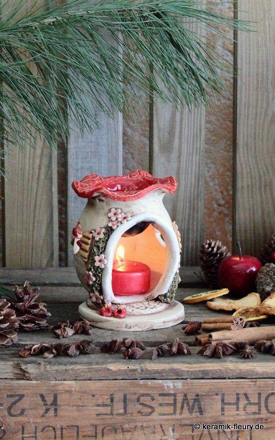 Keramik Duftlampen und Räucherhäuschen für entspannende Stunden